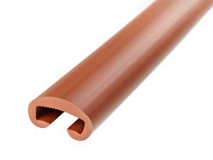 H0524 plastic handle, brown, Fatra