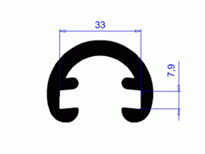 Profil H2165 – plastové madlo