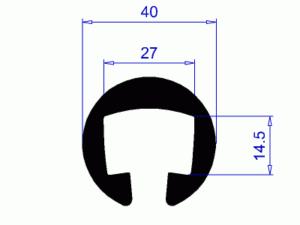 Profil H2166 – plastové madlo