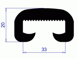 Profil H0524 – plastové madlo