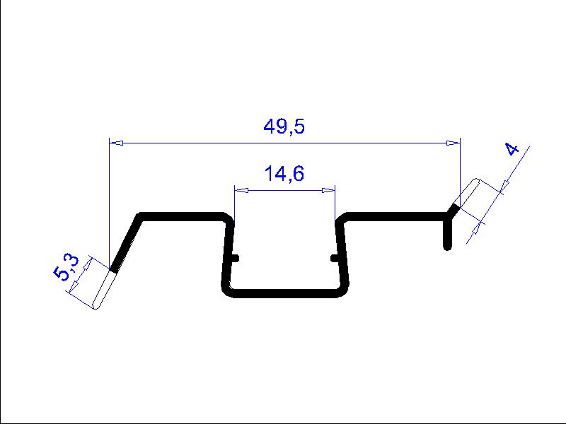 Plastový profil H2673 / Fatra