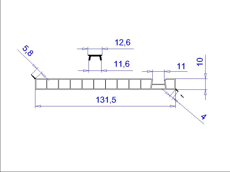 Plastový profil H2755 / Fatra