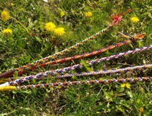 Netradiční použití bužírek z Fatry - velikonoční tatar