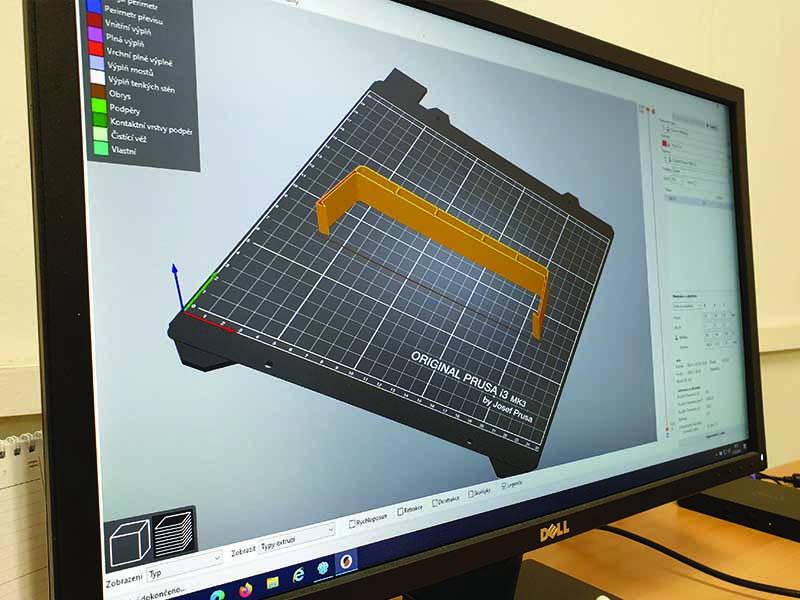 Příprava pro tisk na 3D tiskárně